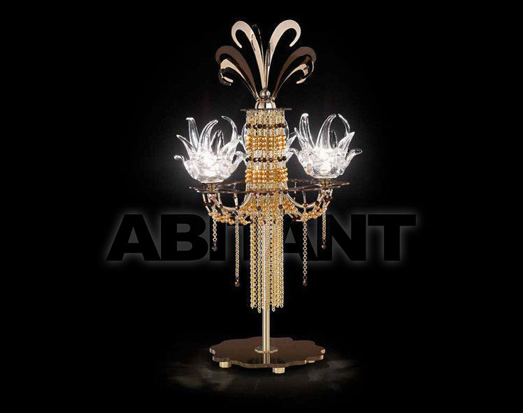 Купить Лампа настольная IDL Export Dolce Vita Luxury Lighting 450/3L  Nickel Chocolate