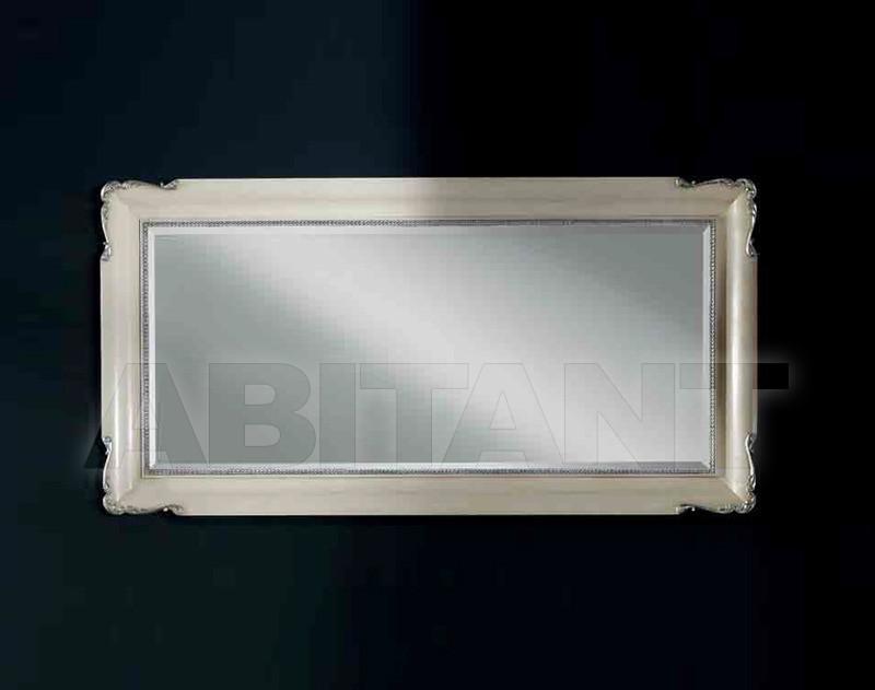 Купить Зеркало настенное Vaccari International Gli Specchi Di Alice 1 0 8 1 Specchiera in legno + pasta di legno finitura avorio patinato + argento o oro