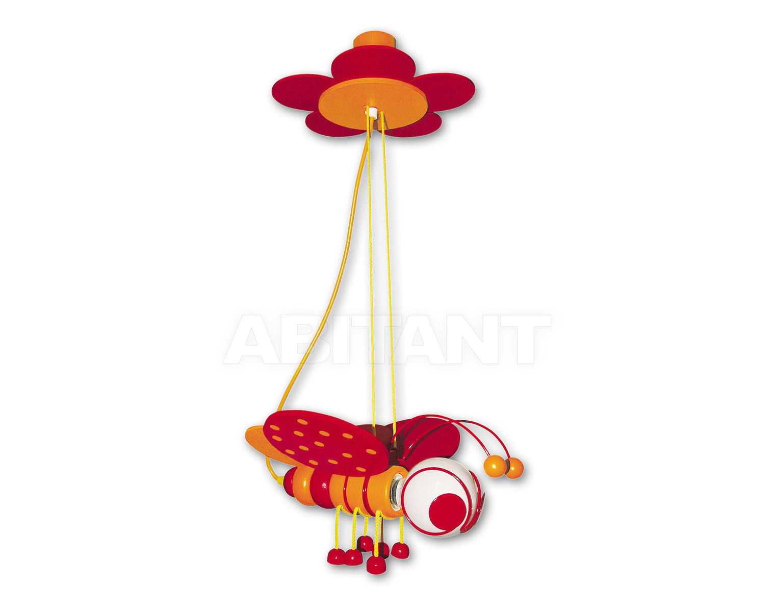 Купить Светильник для детской  Waldi Leuchten Lampen Fur Kinder 2012 90124.2 orange/rot