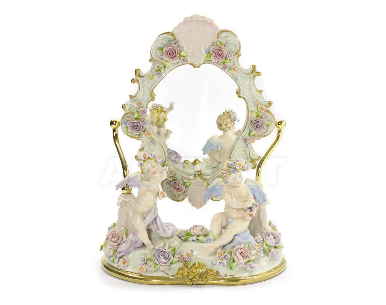 Купить Статуэтка MIRROR IN THE GARDEN Villari Capodimonte T.01642-002