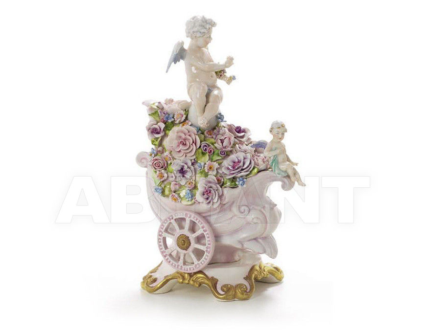 Купить Статуэтка FLOVERY HEAVEN CARRIAGE Villari Capodimonte T.02244-002
