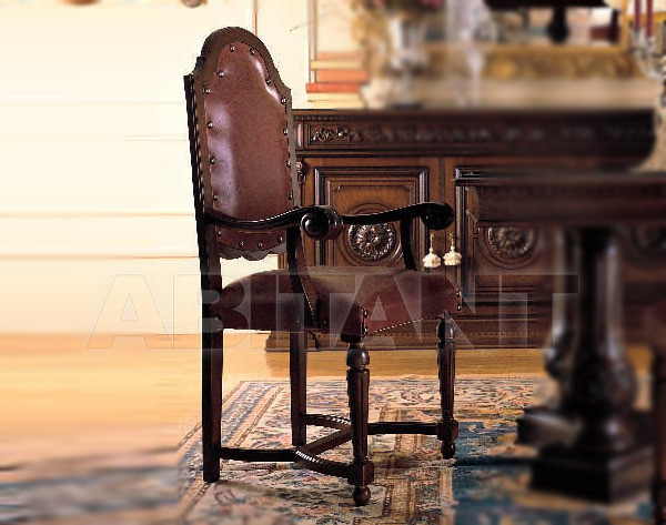 Купить Стул с подлокотниками Mobilderi Arcadia Arcadia Capotavola in pelle
