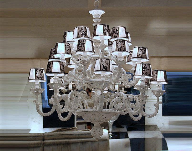 Купить Люстра Due Effe lampadari Lampadari 3000/8+8+8+L con paralumi