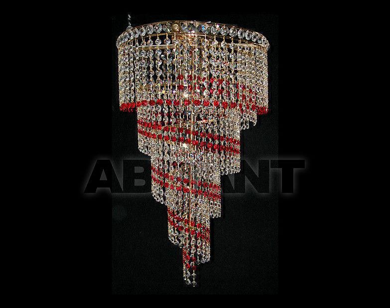 Купить Люстра Due Effe lampadari Plafoniere Spirale plaf 40 ROSSO