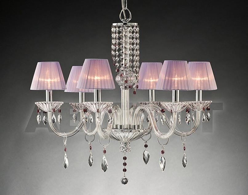 Купить Люстра Due Effe lampadari Lampadari ARIELLE 6/L CON PARALUMI LILLA