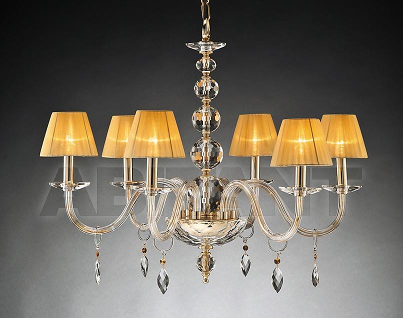 Купить Люстра Due Effe lampadari Lampadari ELENA 6/L CON PARALUMI ORO