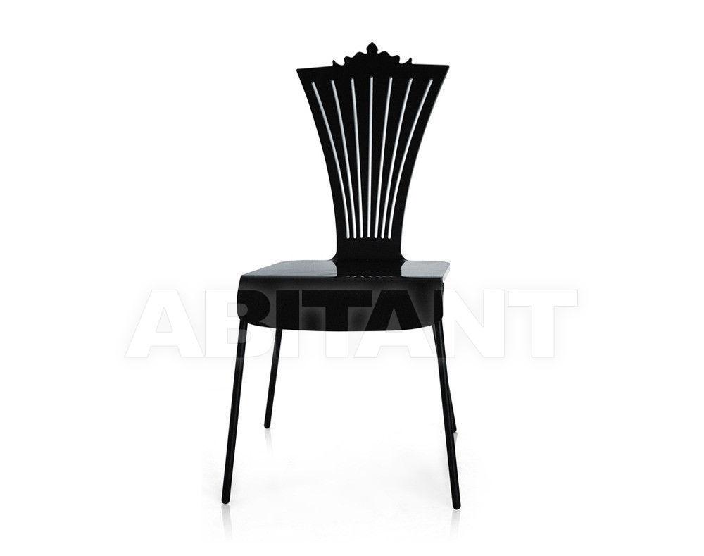 Купить Стул Acrila Outdoor colored Chair with metal legs Black