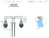 Смеситель для раковины THG Bathroom A7G.20GA Marquise platinum decor Современный / Скандинавский / Модерн