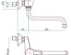 Смеситель для раковины Fiore Aqua 42 CR 4740 Современный / Скандинавский / Модерн