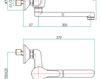 Смеситель для раковины Fiore Aqua 39 CR 4230 Современный / Скандинавский / Модерн