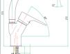 Смеситель для раковины Fiore Aqua 73 CR 4318 Современный / Скандинавский / Модерн