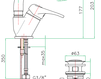 Смеситель для раковины Fiore Aqua 37 CR 2243 Современный / Скандинавский / Модерн
