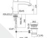 Смеситель для раковины Rubinetteria Paffoni L E V E L LES 071 Современный / Скандинавский / Модерн