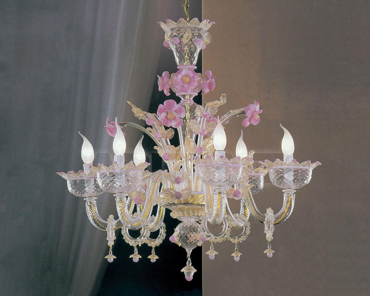 Купить Люстра Cavalliluce di Mirco Cavallin Venice 09L6 Cr. dec. oro e past.rosa