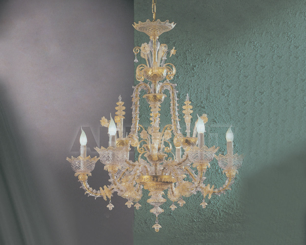 Купить Люстра Cavalliluce di Mirco Cavallin Venice 211L6 trasparente decoro oro