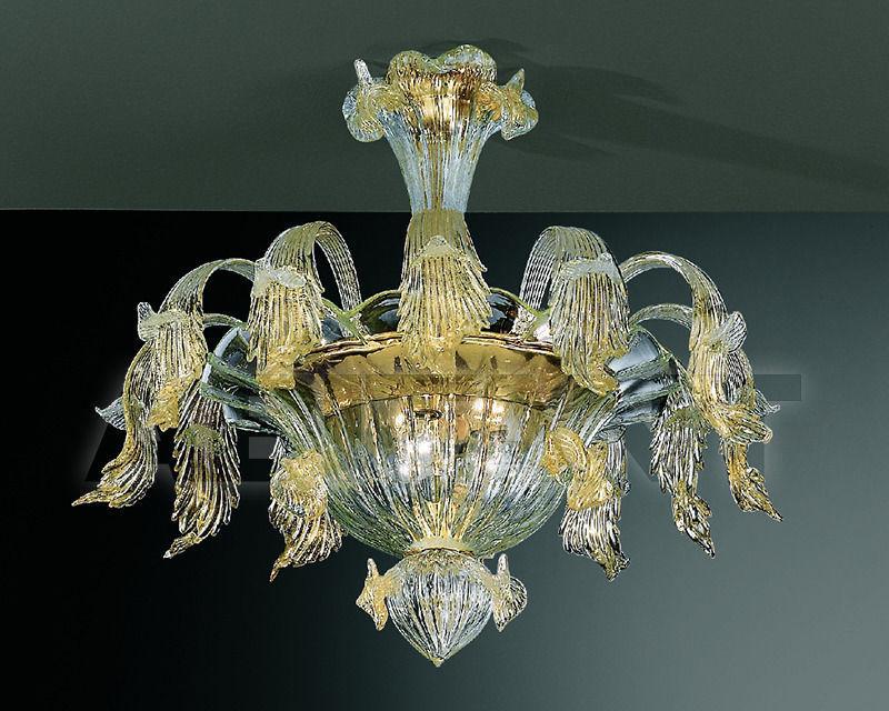 Купить Люстра Lavai lavorazione vetri artistici di Giuliano Statua & C. 2007 239/pl6 trasparente oro