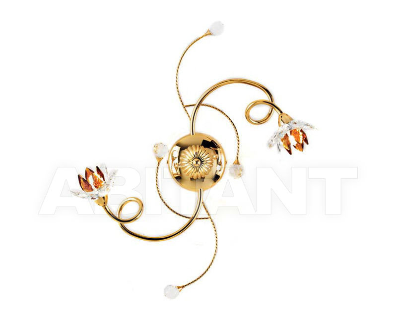 Купить Люстра Ciciriello Lampadari s.r.l. Lighting Collection 2012 oro plafoniera 2 luci