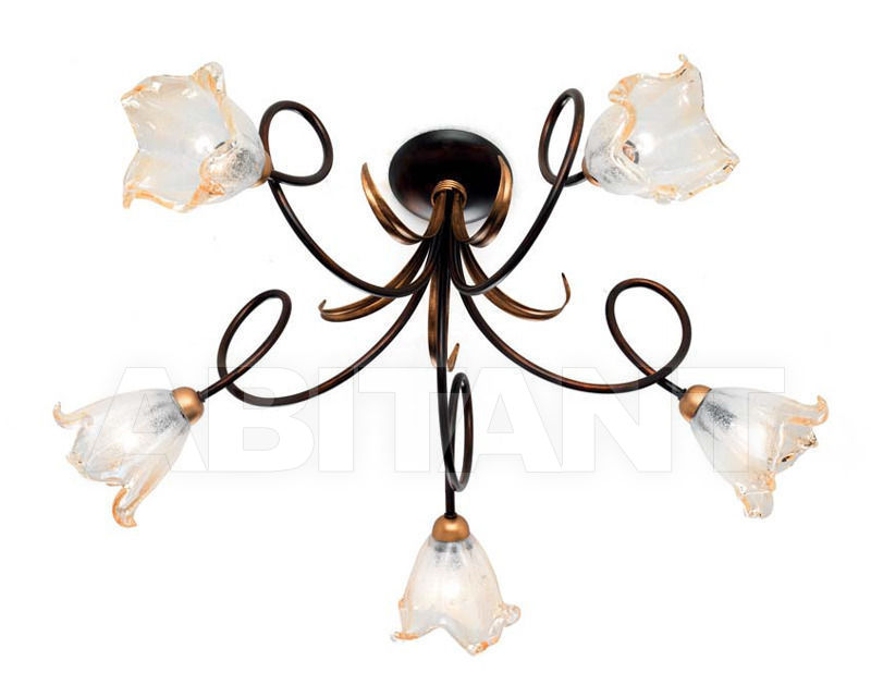 Купить Люстра Ciciriello Lampadari s.r.l. Lighting Collection RIMINI plafoniera 5 luci