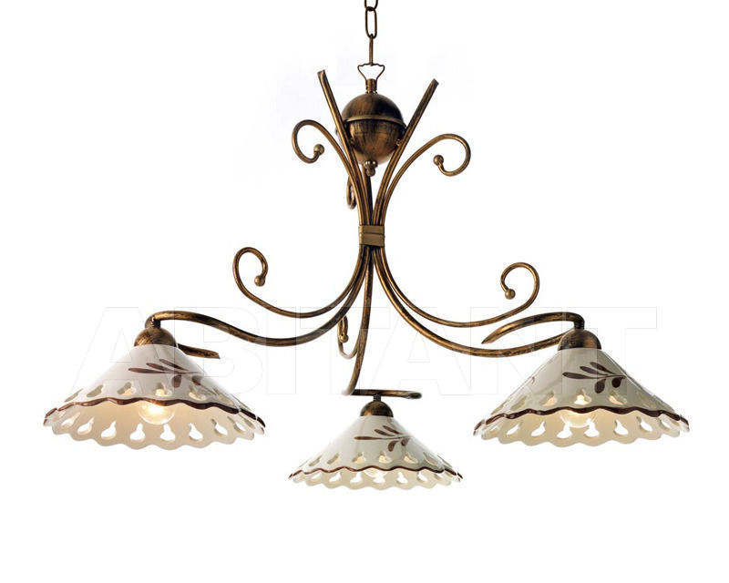 Купить Люстра Ciciriello Lampadari s.r.l. Lighting Collection 2009 ruggine - oro sospensione 3 luci