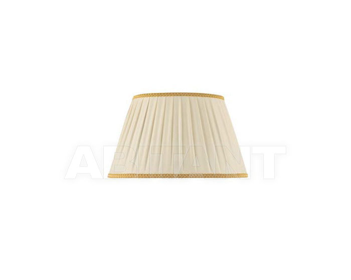 Купить Абажур Ciciriello Lampadari s.r.l. Lighting Collection 3047 ovale plissé AVORIO/ORO 50