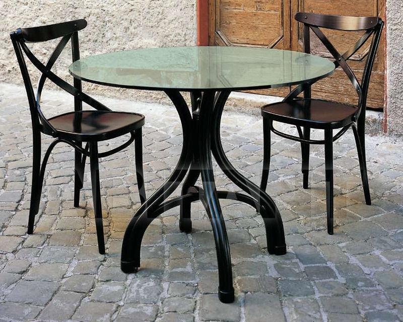 Купить Стол обеденный Italcomma Complementi D'arredo S.R.L  Sedie Storiche 27 TK 24 BASE +27 PIANO VETRO