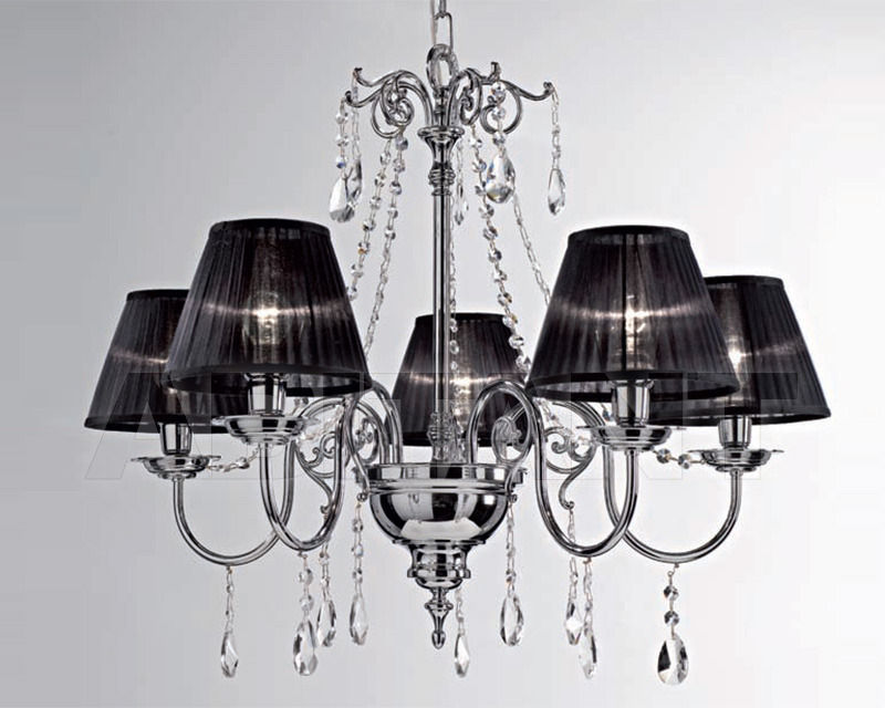 Купить Люстра Cremasco Illuminazione snc Opere Di Luce 4088/5S-CR-TR-NE