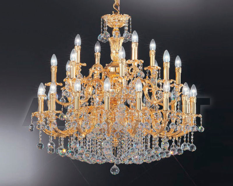 Купить Люстра Asfour Crystal Crystal 2013 CH  79/28/28  Gold  Ball