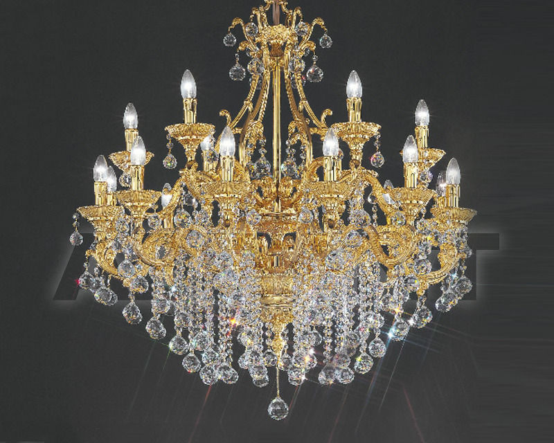 Купить Люстра Asfour Crystal Crystal 2013 CH 1075 / 18 Gold Ball