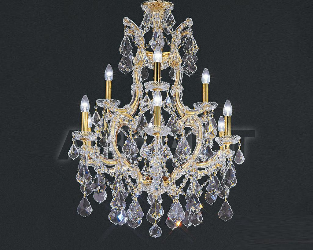 Купить Люстра Asfour Crystal Crystal 2013 CH 25/9+1 Gold