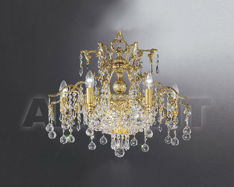 Купить Люстра Asfour Crystal Crystal 2013 CH 758/55/9 Gold Patina.Oct*Ball*Drop