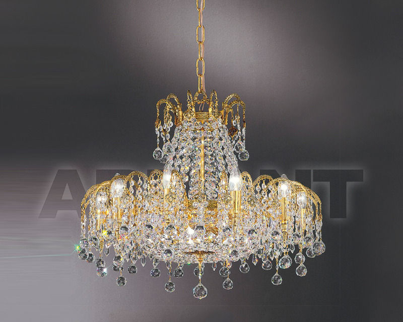 Купить Люстра Asfour Crystal Crystal 2013 CH 764/67/15 Gold Patina.Oct*Ball*Drop