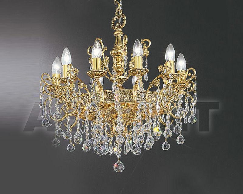 Купить Люстра Asfour Crystal Crystal 2013 CH 851/58/10 Gold Patina.Oct*Ball*Drop