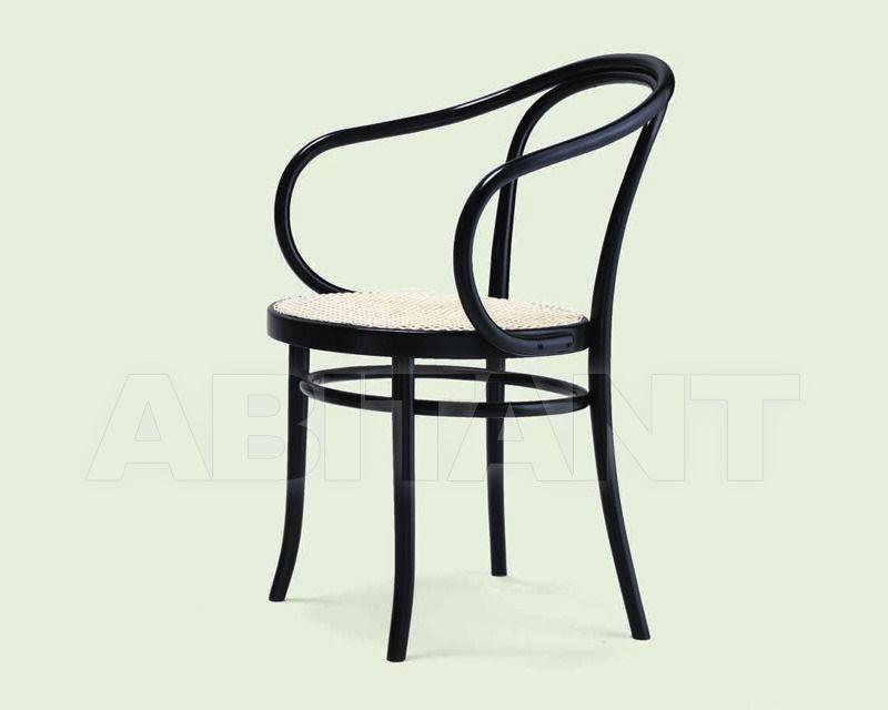 Купить Стул с подлокотниками Italcomma Complementi D'arredo S.R.L  Heritage B9 Nero Thonet 034 /  Black Thonet 034