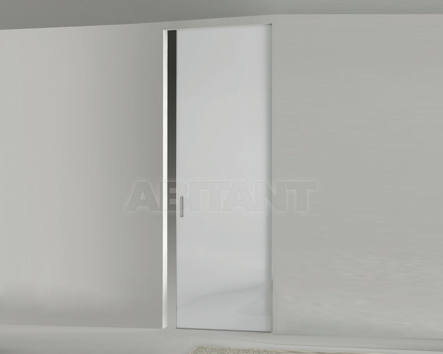 Купить Дверь  стеклянная Res Italia Doorscollection LEVIA Single sliding door into the wall