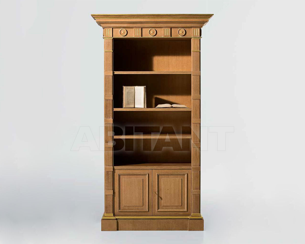 Шкаф книжный - moak/0028. книжный шкаф орехового оттенка от .