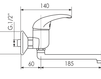 Схема Смеситель для кухни Giulini Cucina 2502 Современный / Скандинавский / Модерн