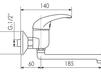 Схема Смеситель для кухни Giulini Cucina 2202 Современный / Скандинавский / Модерн