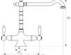 Схема Смеситель для кухни Giulini Cucina 7551 Современный / Скандинавский / Модерн