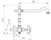 Схема Смеситель для кухни Giulini Cucina 3708 Современный / Скандинавский / Модерн