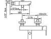 Схема Смеситель для ванны Giulini Pablolux 9801-12 Современный / Скандинавский / Модерн