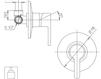 Схема Встраиваемый смеситель Giulini Corner 6815 Современный / Скандинавский / Модерн