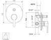 Схема Встраиваемый смеситель Giulini Corner 6813 Современный / Скандинавский / Модерн