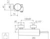 Схема Смеситель настенный Giulini Quack 9108 Современный / Скандинавский / Модерн