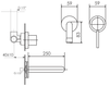 Схема Смеситель для раковины Giulini Futuro 6520 Современный / Скандинавский / Модерн