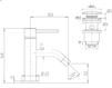 Схема Смеситель для раковины Giulini Futuro 6595/U Современный / Скандинавский / Модерн