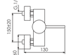 Схема Смеситель настенный Giulini Futuro 6508WD Современный / Скандинавский / Модерн