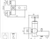 Схема Смеситель настенный Giulini Elica 9201 Современный / Скандинавский / Модерн