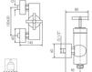 Схема Смеситель настенный Giulini Elica 9208 Современный / Скандинавский / Модерн