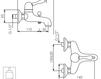Схема Смеситель настенный Giulini Harmony 9501 Современный / Скандинавский / Модерн
