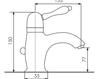 Схема Смеситель для раковины Giulini Harmony 9505A Современный / Скандинавский / Модерн
